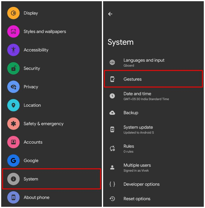 Android 12 Settings