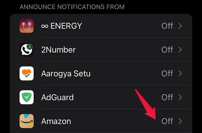 Announce Notification Settings for App