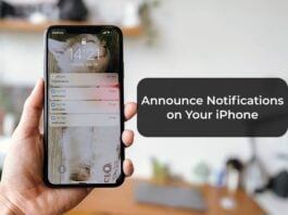 Announce Notifications on Your iPhone