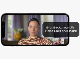 Blur Background in Video Calls on iPhone