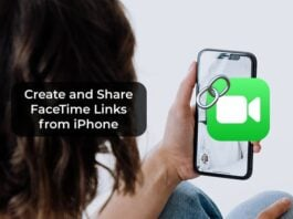 Create and Share FaceTime Links from iPhone