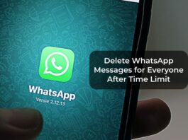 Delete WhatsApp Messages for Everyone After Time Limit