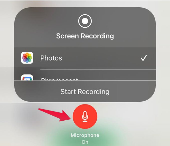 Enable Microphone for Screen Recording on iPhone