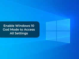 Enable Windows 10 God Mode to Access All Settings