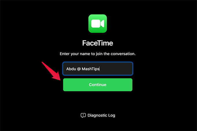 FaceTime Video Call Join from Android or PC with Name