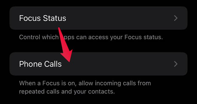 Focus Phone Call Settings