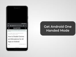 Get Android One Handed Mode