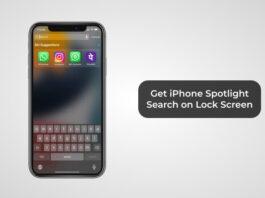 Get iPhone Spotlight Search on Lock Screen