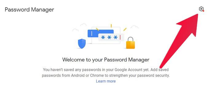 Google password manager website