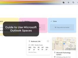 Guide to Use Microsoft Outlook Spaces