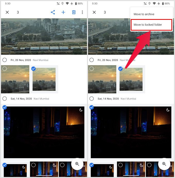 How to hide photos in Google Photos