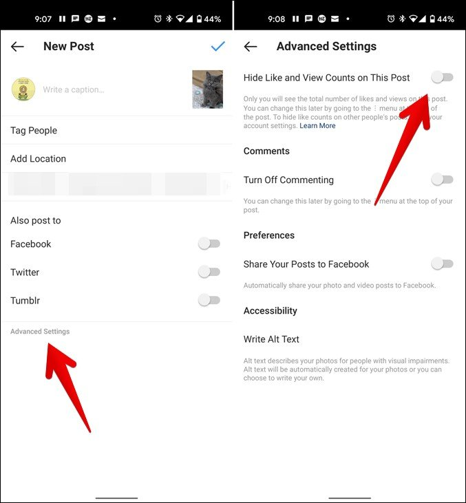 Make Sure Like and View Count Is Enabled for New Posts