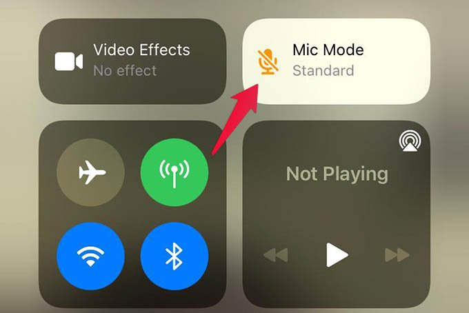 Mic Mode on iPhone During WhatsApp Video Calls