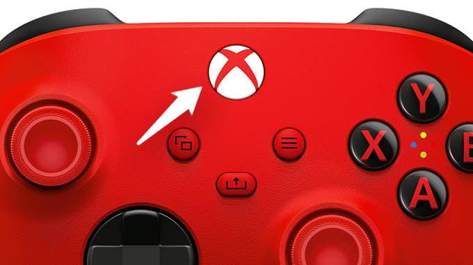 Press Xbox Home Button in Series X S