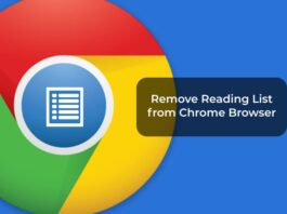 Remove Reading List from Chrome Browser