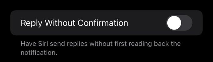 Reply Without Confirmation for Notification Announce on iPhone