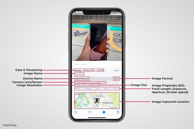 See Photo Metadata on iPhone with iOS 15