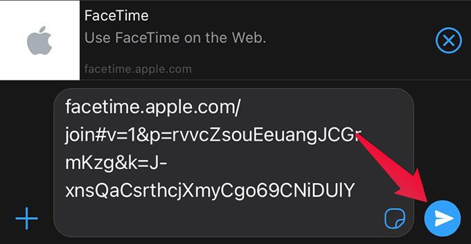 Send FaceTime Video Call Link