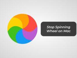 Stop Spinning Wheel on Mac -F