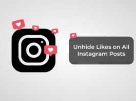 Unhide Likes on All Instagram Posts
