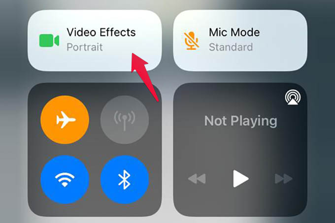 iPhone Control Center Video Effects