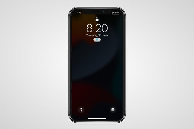 iPhone Dimmed Lock Screen During Focus