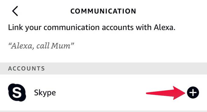 Add Skype to Amazon Alexa Account