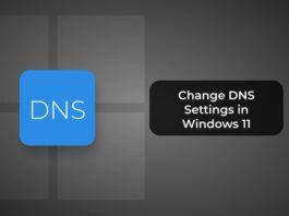 Change DNS Settings in Windows 11