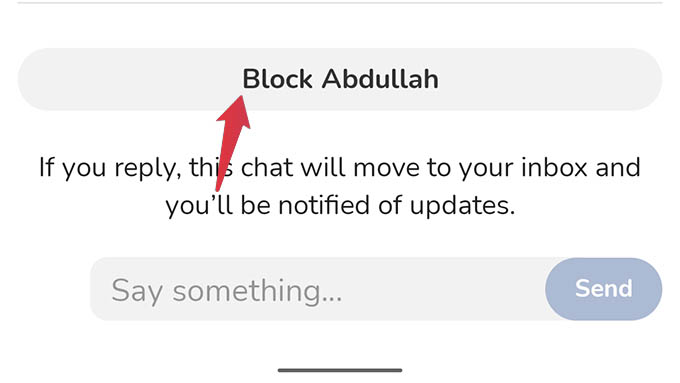 Decline Message Requests and Block in Clubhouse