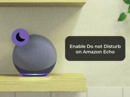 Enable Do not Disturb on Amazon Echo