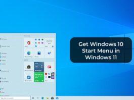 Get Windows 10 Start Menu in Windows 11