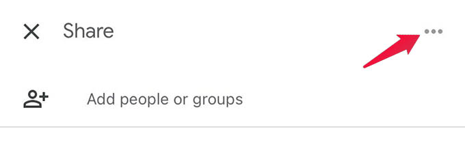 Google Drive File Sharing Options