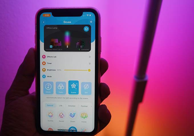 Govee Lyra Smart Corner Floor Lamp Smartphone App Control