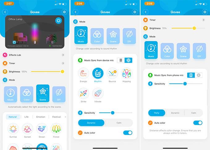 Govee Lyra Smart Corner Floor Lamp Smartphone App