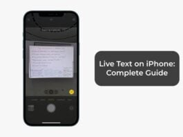Live Text on iPhone Complete Guide