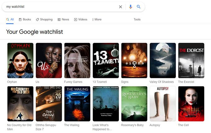 My Watchlist Result Google Your Watchlist for Movies