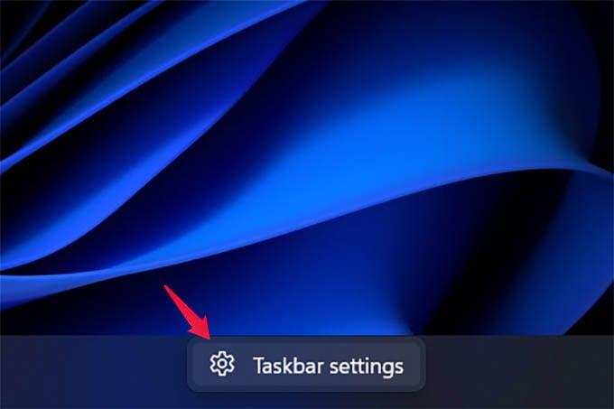 Open Taskbar Settings in Windows 11