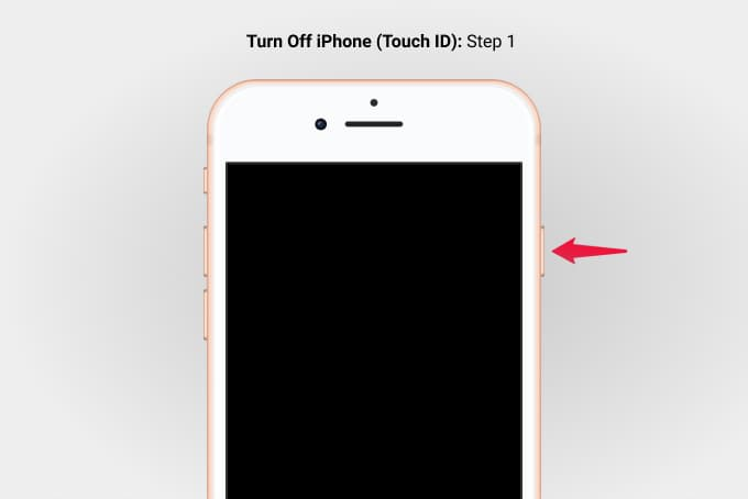 Press Side Button to Power Off iPhone 8 Step 1