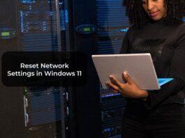 Reset Network Settings in Windows 11 -F