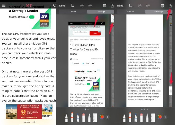 Safari save webpage as pdf