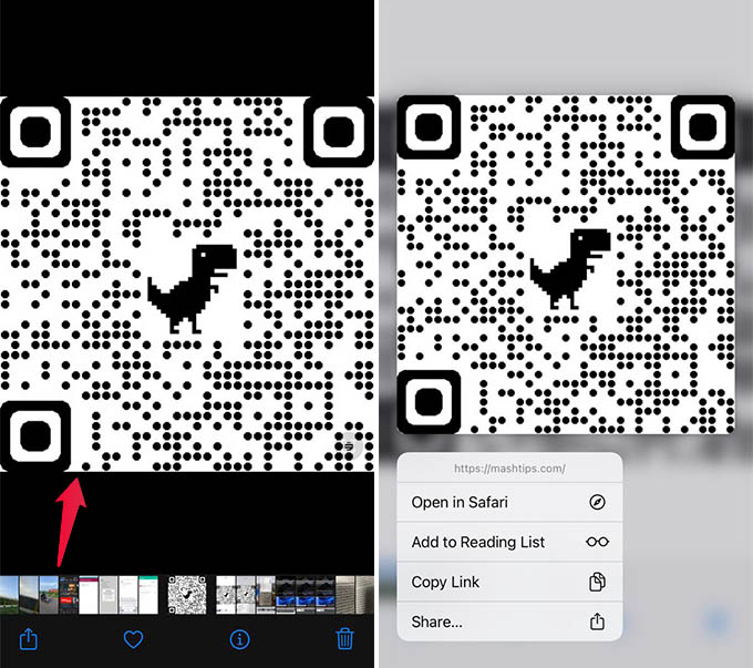 Scan QR Code from any Picture in Camera Roll
