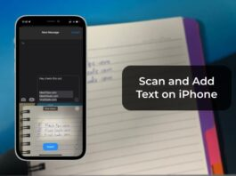 Scan and Add Text on iPhone
