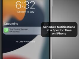 Schedule Notifications at a Specific Time on iPhone