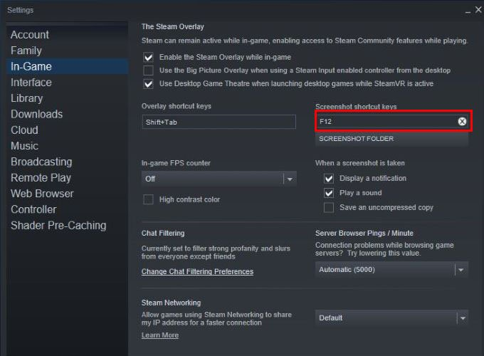 Steam Screenshot key