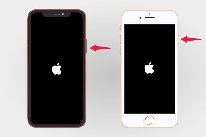 Turn On iPhone By Pressing Side Button