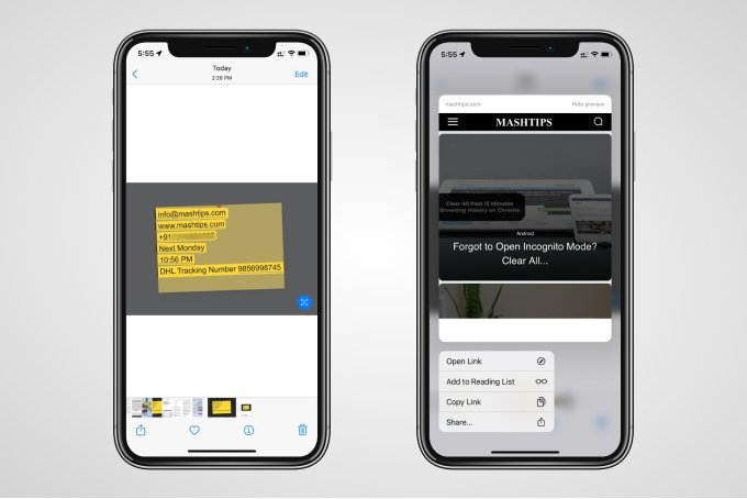 Visit Links from an Image on iPhone