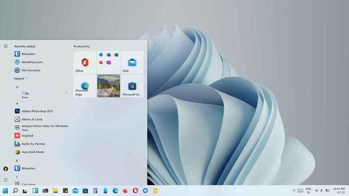 Windows 10 Classic Start Menu in Windows 11
