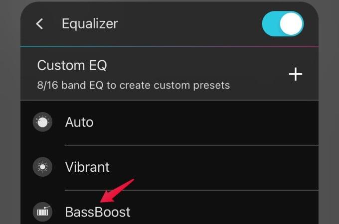 boom app increase bass