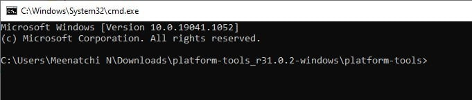 command prompt adb connection in Windows for Fire TV