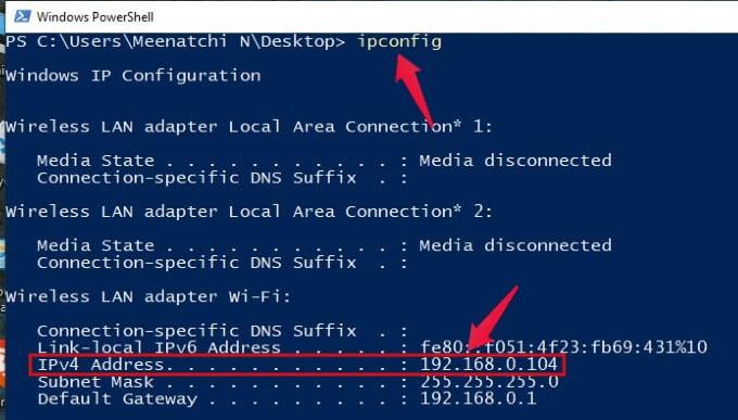 find ip address windows pc